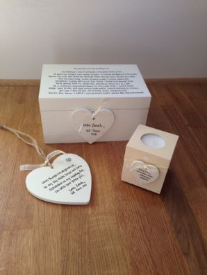 Shabby Personalised Chic Mother Of The Bride Wedding Box Gift Set Plaque Candle